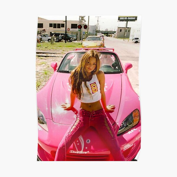 DEVON AOKI PINK RACE CAR Poster