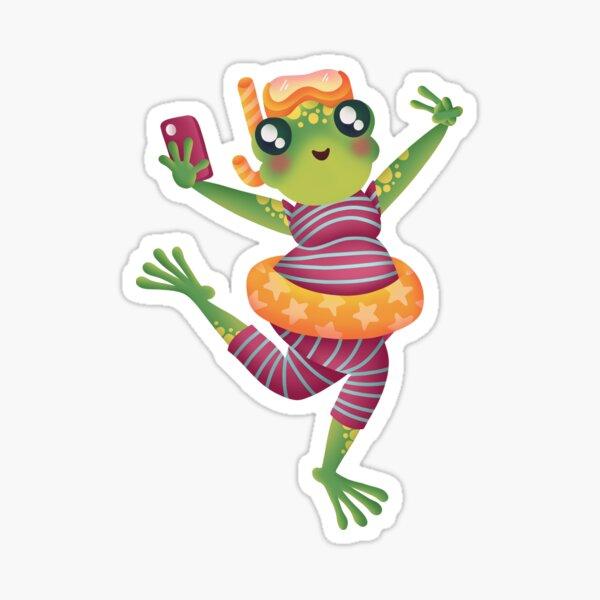 Cute Frog Sticker