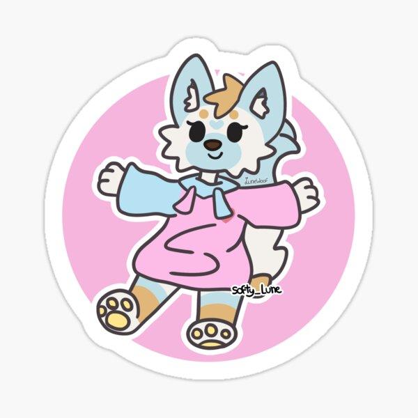 Luna à la Aggretsuko Sticker