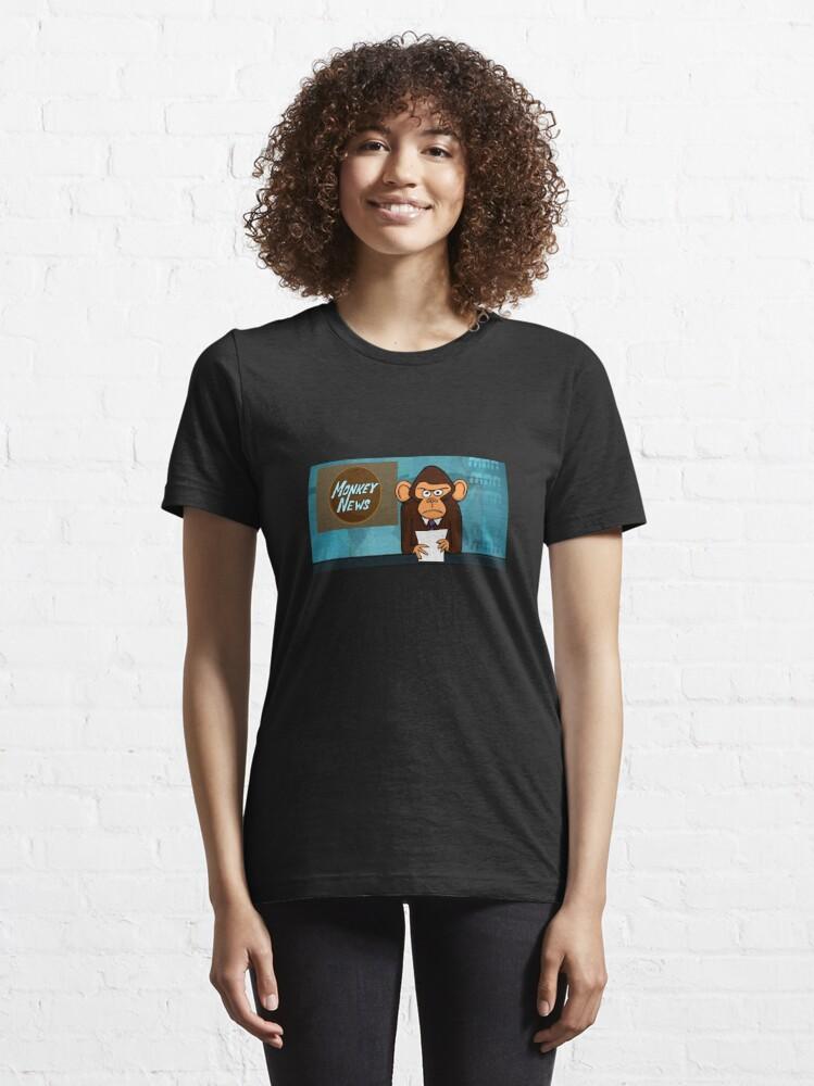 Alternate view of Monkey News Essential T-Shirt
