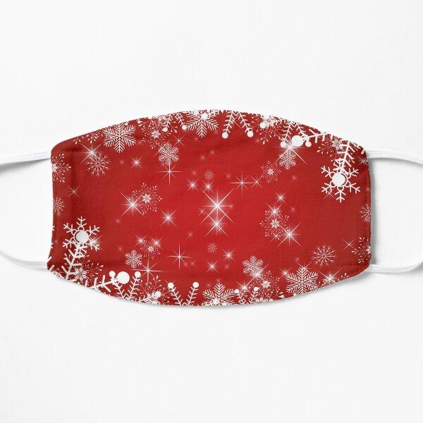 Schneeflocken / Sterne: Weihnachten in rot und weiß Maske