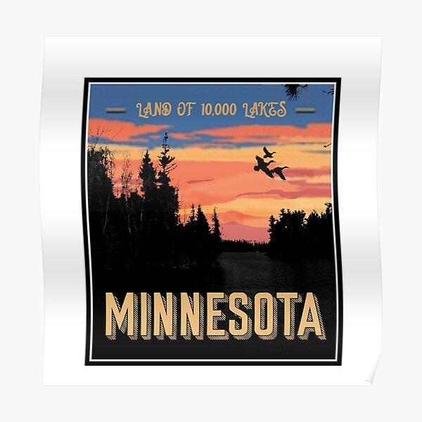 Land of 10,000 Lakes, Minnesota Poster