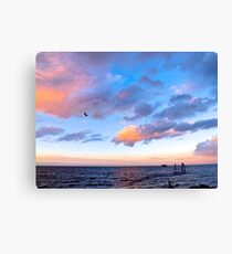 Jeweled Clouds in Puget Sound Canvas Print