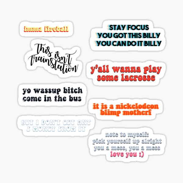 ruel quotes pack 2 Sticker
