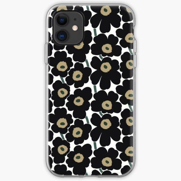 Marimekko black design iPhone Soft Case