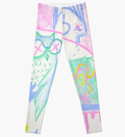 Pastel Roadkill Party with Owl and friends!  THE AFTERPARTY Leggings