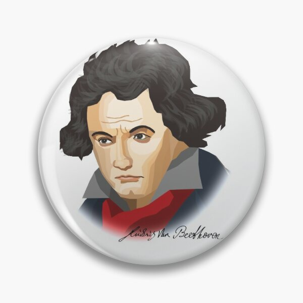 Ludwig van Beethoven mal anders Button