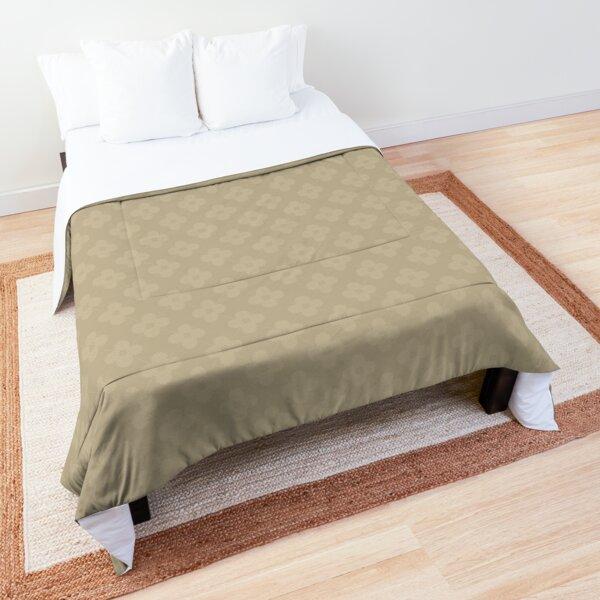 light brown flower design ;) Comforter