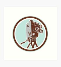 Vintage Movie Film Camera Retro Art Print