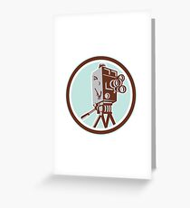 Vintage Movie Film Camera Retro Greeting Card