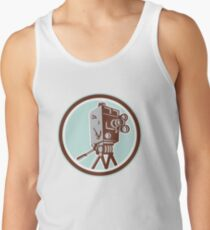 Vintage Movie Film Camera Retro Tank Top
