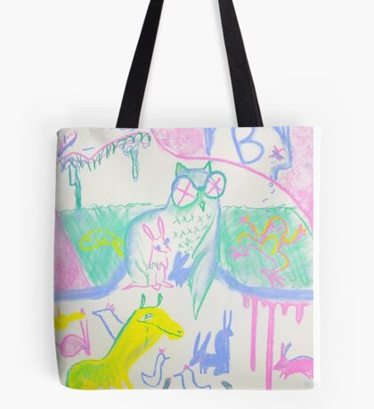 Pastel Roadkill Party with Owl and friends!  THE AFTERPARTY Tote Bag
