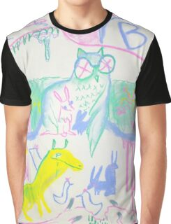Pastel Roadkill Party with Owl and friends!  THE AFTERPARTY Graphic T-Shirt