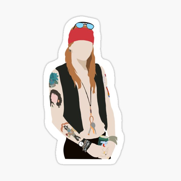Axl Rose de Guns N Roses Pegatina