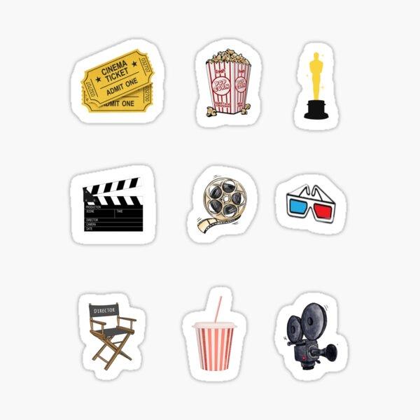 Movie freak for life Sticker