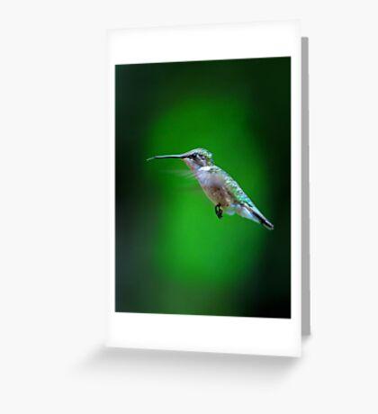 Tongue and Cheek - Ruby-throated hummingbird Greeting Card