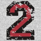 The Number Two - No. 2 (two-color) red by theshirtshops