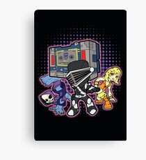 Old Skool 80s Cartoon B Boys (and girl) Canvas Print