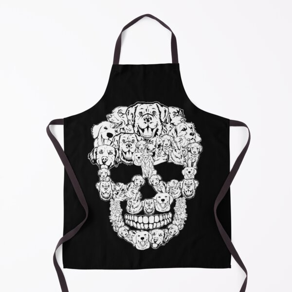 Golden Retriever Dog Halloween Skull Costumes  Apron