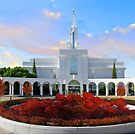 Bountiful Utah Temple - Above the Tree 32x16 by Ken Fortie