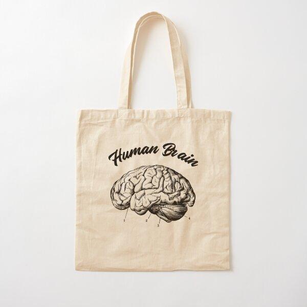 Human Brain Design Cotton Tote Bag