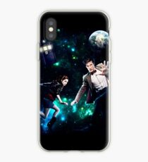 Amy and The Doctor in Space iPhone Case