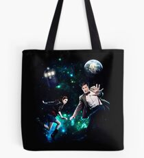 Amy and The Doctor in Space Tote Bag