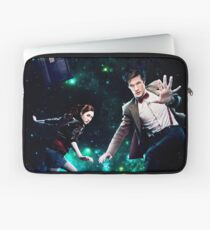 Amy and The Doctor in Space Laptop Sleeve