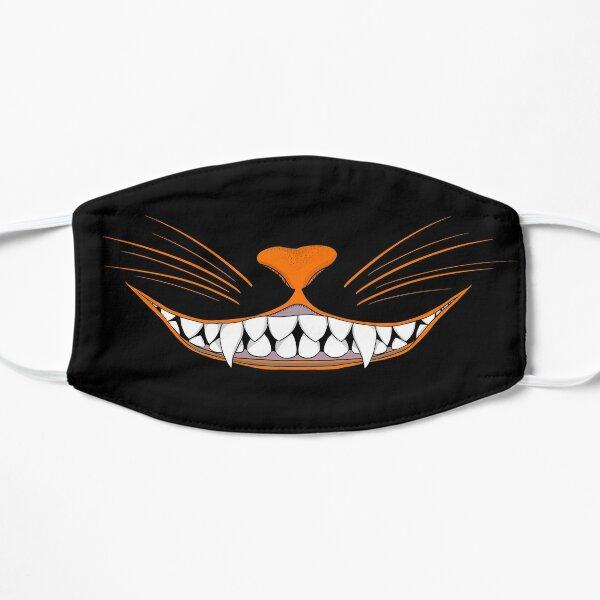 Vintage Halloween Black Cat Grin Mask Flat Mask
