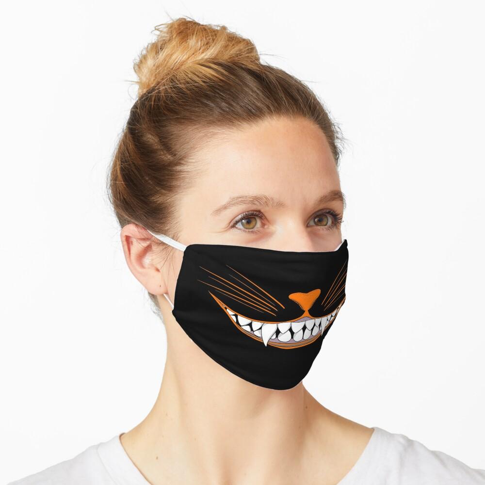 Vintage Halloween Black Cat Grin Mask Mask