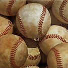 Vintage Digital Baseball Artwork by madeinatlantis