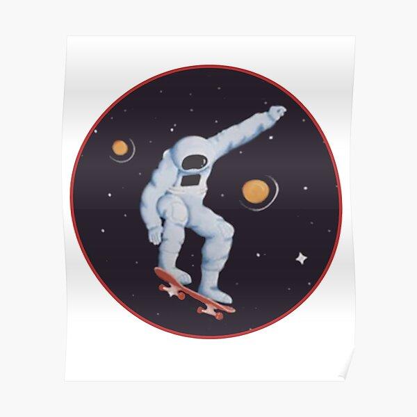 Astro Skater Space Galaxy Skateboard Astronaut Skating Gift Desk Mat
