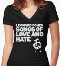 Leonard Cohen - Songs of Love and Hate Shirt Women's Fitted V-Neck T-Shirt