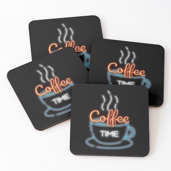 coffee time  Coasters (Set of 4)