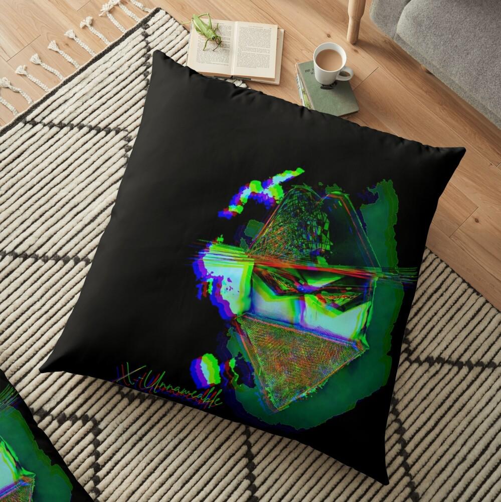 psychedelic zorro Floor Pillow