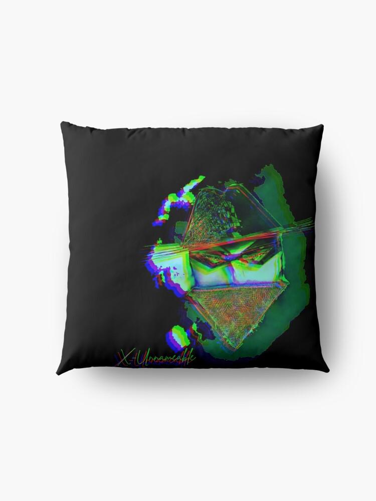 Alternate view of psychedelic zorro Floor Pillow