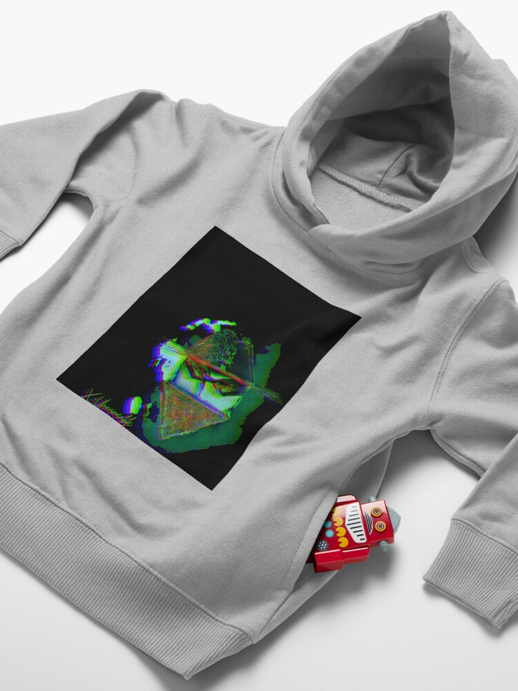 Alternate view of psychedelic zorro Toddler Pullover Hoodie
