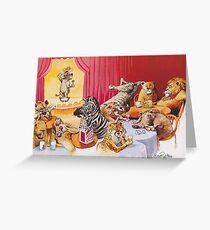 Laughing hyena Greeting Card