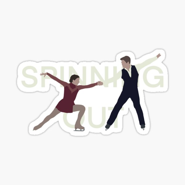 Spinning out Sticker