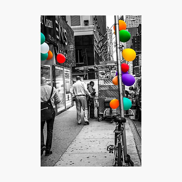Colored With Balloons  Photographic Print