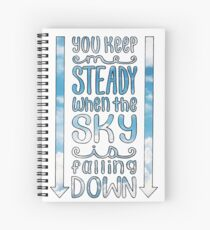 Steady (For King & Country) Lyrics Spiral Notebook