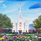 Brigham City Temple - Tabernacle Flowers 32x16 by Ken Fortie