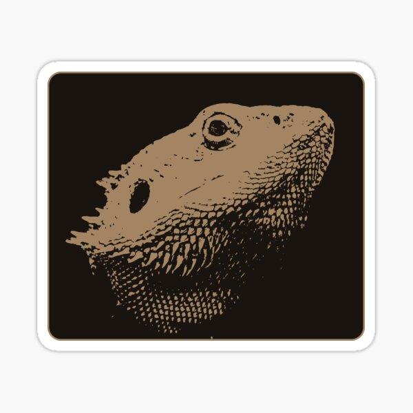 Bearded Dragon Head In Beige Sticker