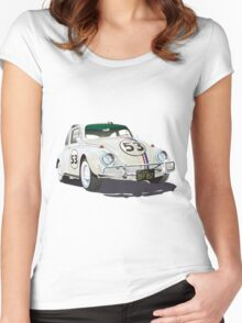 Herbie The Beetle Women's Fitted Scoop T-Shirt