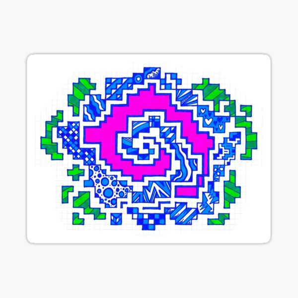 Graphic Hypno-Doodle Sticker