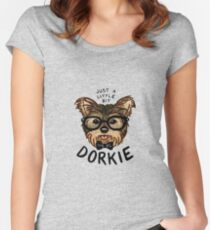 "Just a Little Bit ""Dorkie"" Women's Fitted Scoop T-Shirt"