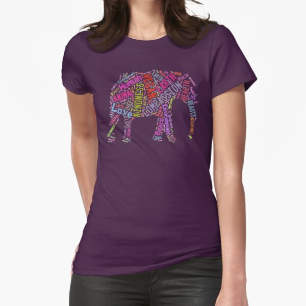Vegan Elephant Fitted T-Shirt