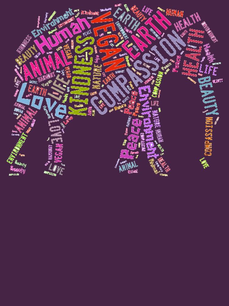 Vegan Elephant | Women's T-Shirt