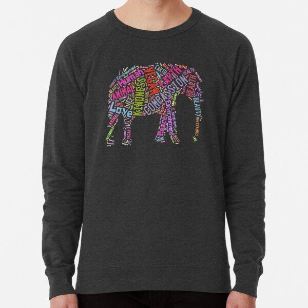 Vegan Elephant Lightweight Sweatshirt