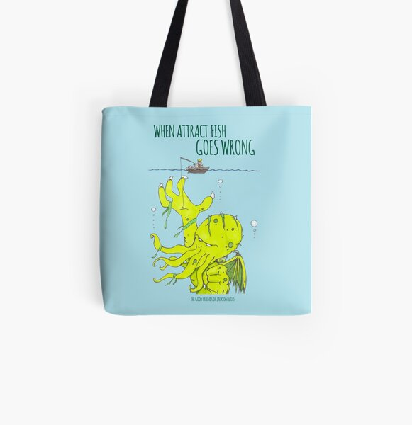 When Attract Fish Goes Wrong (1) All Over Print Tote Bag